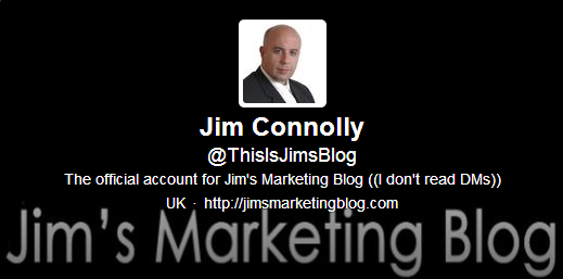 Join me on the new Jim's Marketing Blog Twitter account