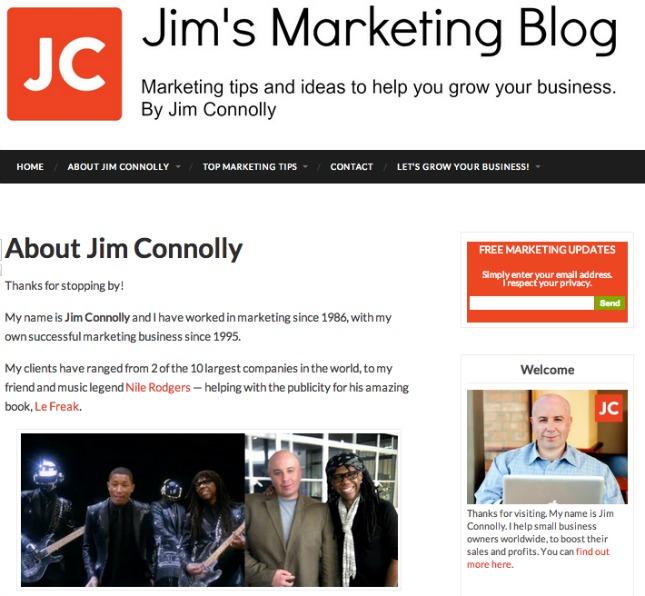 Jims marketing blog