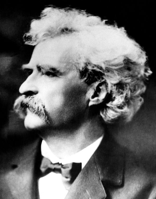mark twain, goiing out limb, out on a limb