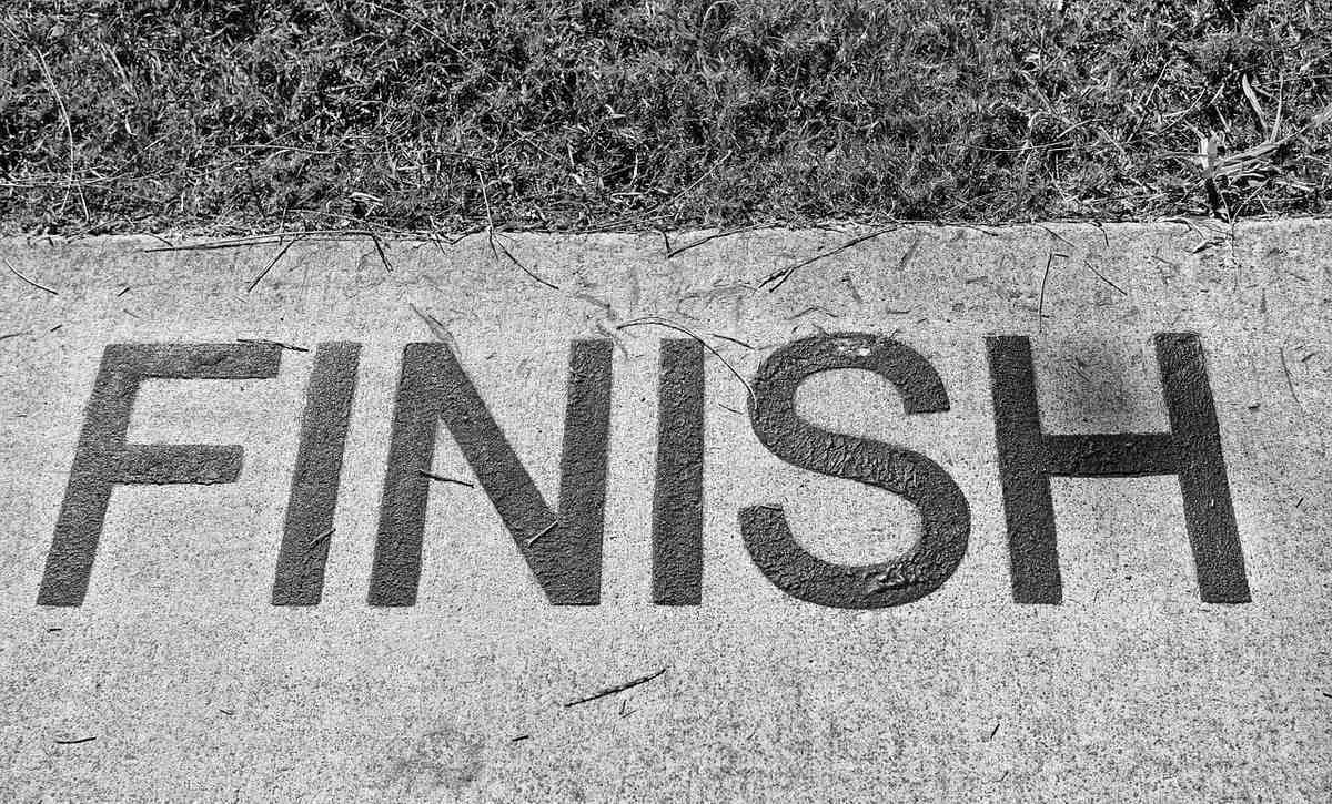 no one starts finish line, no one starts, finish line