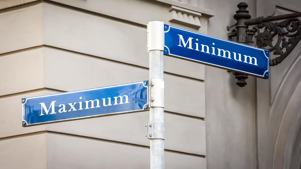 marketing, minimum maximum